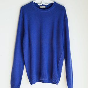 Lorenzo Magni Cobalt Blue Wool Cashmere Pullover